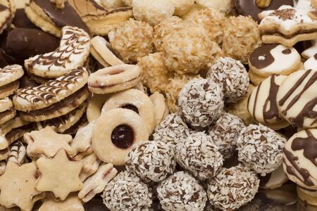 Assortment of delicious home-made Christmas cookies  Stock Photo - 4192794
