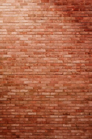 oriented: Portrait oriented brick wall in spotlight with shadows, perfect as a background Stock Photo