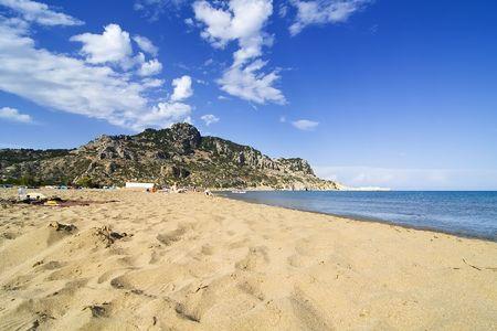 tsampika: Tsambika (Tsampika) beach on Rhodes Island, Greece