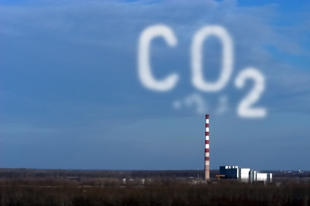 Industrial pollution, carbon dioxide cloud