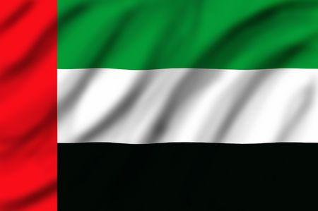 Flag of United Arap Emirates                                  Stock Photo - 2406430