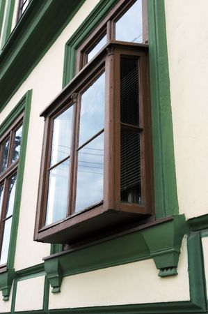 kibitz: Old kibitz window, you can find it in some parts of Serbia                                 Stock Photo