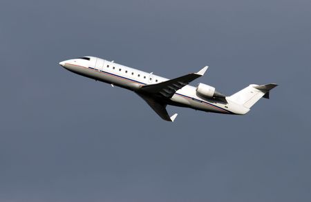 Regional passenger airplane few moments  after takeoff