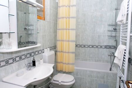 vanity: Modern bathroom interior in luxury resort, elegance style Stock Photo