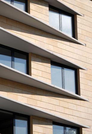 Close-up imagen de la moderna fachada de la construcción de rascacielos Foto de archivo - 3140065