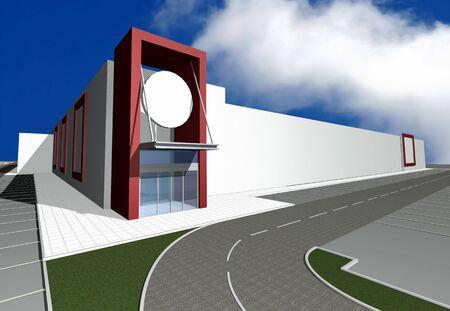 renders: 3D render of modern building exterior, more renders in portfolio