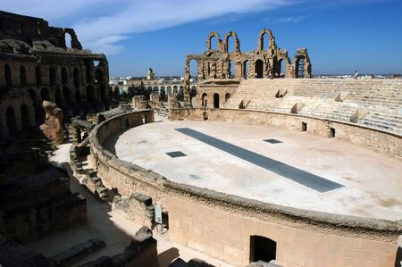 Ancient amphitheater El Jem in Tunisia, more photos in portfolio photo