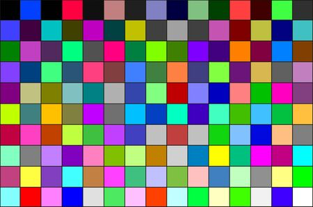 calibration: Multi colored calibration chart, all colors, background pattern