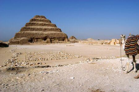 djoser: Ancient step pyramid of Djoser (Zoser) at Saqqara, Egypt