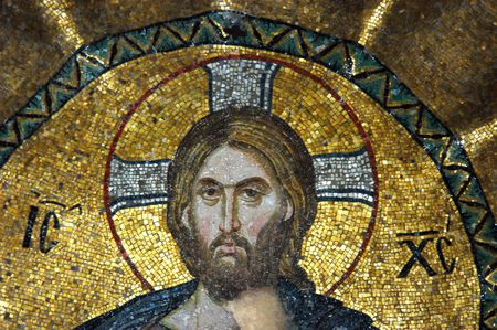 Mosaic of Jesus Christ in the church of Hagia Sofia, Istanbul, Turkey                                 Stock Photo - 4514536