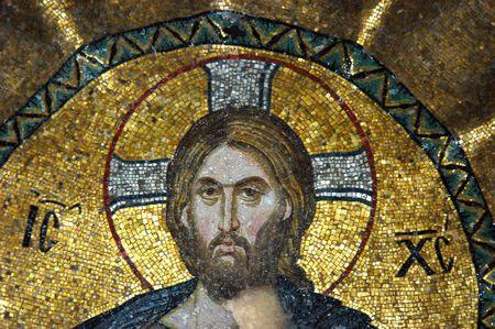 Mosaic of Jesus Christ in the church of Hagia Sofia, Istanbul, Turkey                                 Stock Photo - 4514536