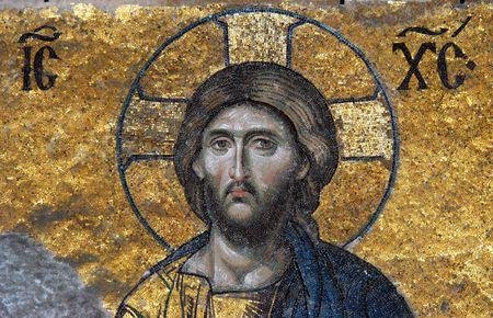 Mosaic of Jesus Christ, Hagia Sofia in Istanbul, Turkey