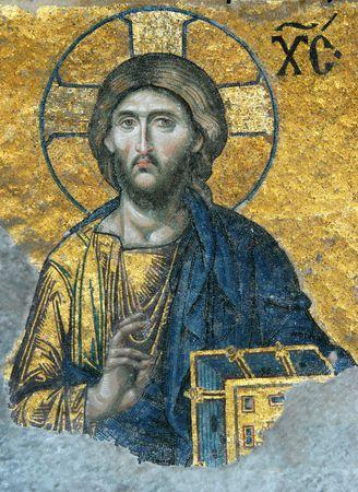 aya: Mosaic of Jesus Christ in the church of Hagia Sofia
