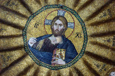 Mosaic of Jesus Christ, Hora church, Istanbul, Turkey