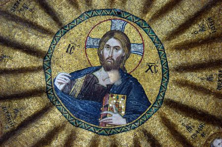 Mosaic of Jesus Christ, Hora church, Istanbul, Turkey