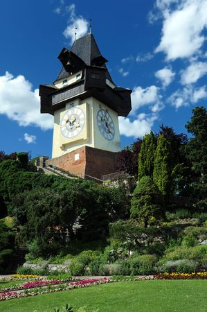 steiermark: Old clock tower in Graz, Styria, Austria