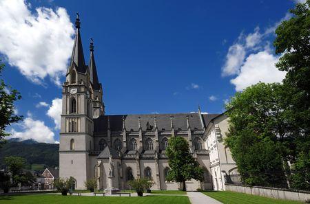 Monastery Admont, church dedicated to the Saint Blaise Stock Photo