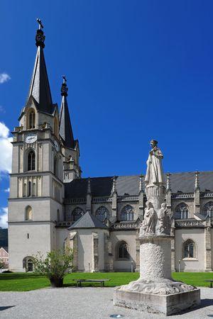 Saint Blaise statue in front of Monastery Admont, Austria