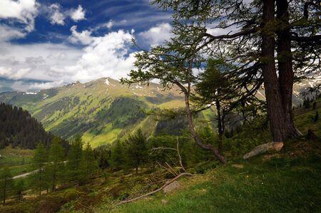 landsape: Alpine landscape near Solk pass in Austria