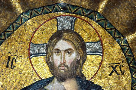 Mosaic of Jesus Christ in the church of Hagia Sofia, Istanbul, Turkey                                 Stock Photo - 6593357