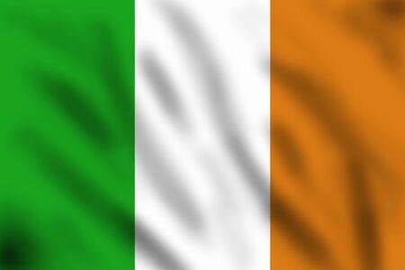 Flag of Ireland, 3d illustration illustration