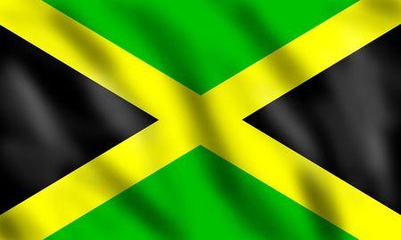 Flag of Jamaica, 3d illustration illustration