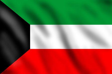 kuwait: Flag of Kuwait, 3d illustration