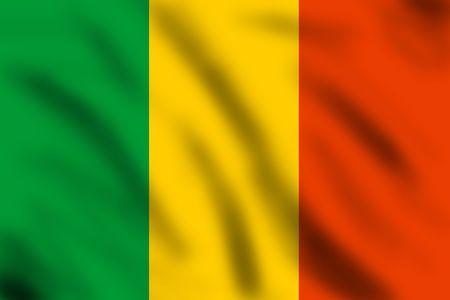 bamako: Flag of Mali, 3d illustration