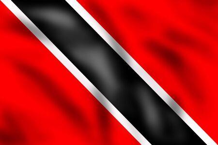 port of spain: Flag of Trinidad and Tobago, 3d illustration