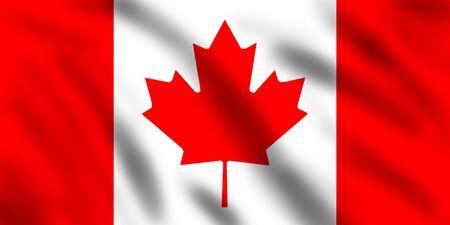 Flag of Canada, 3d illustration illustration
