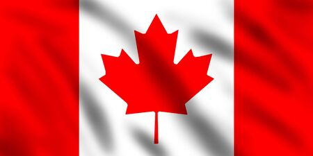 Flag of Canada, 3d illustration illustration