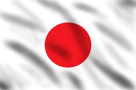 Flag of Japan, 3d illustration