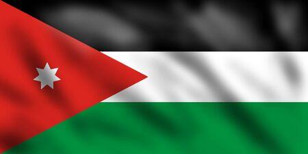 Flag of Jordan, 3d illustration Stock Illustration - 7088920