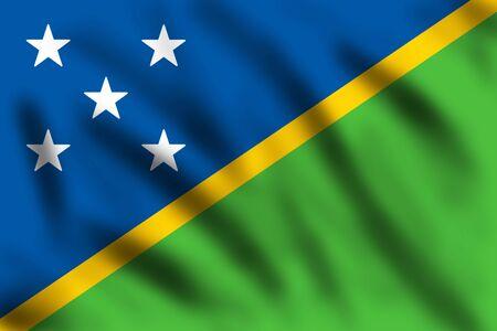 solomon: Flag of Solomon Island, 3d illustration Stock Photo