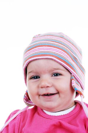 Portrait of lovely baby, studio shot, original file RAW Stock Photo - 7096492
