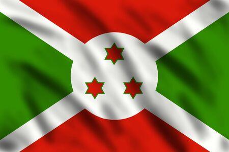 burundi: Flag of Burundi, 3d illustration