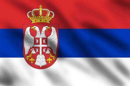 Flag of Serbia, 3d illustration illustration