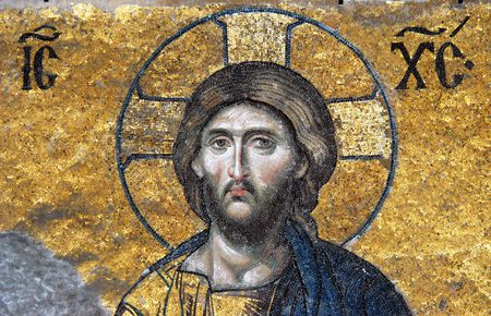 Mosaic of Jesus Christ, Hagia Sofia in Istanbul, Turkey