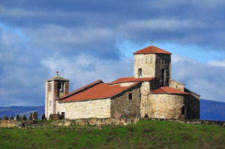 Ancient church of St Peter`s and Paul`s, UNESCO world heritage site, Novi Pazar, Serbia Stock Photo