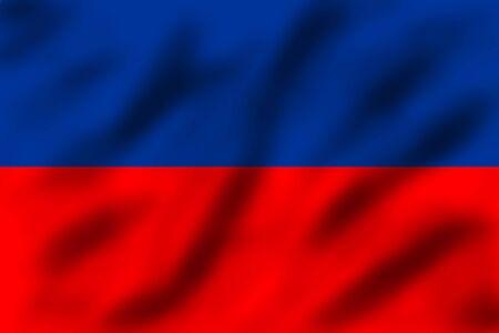 port au prince: Ondeando la bandera de Hait�, ilustraci�n 3d