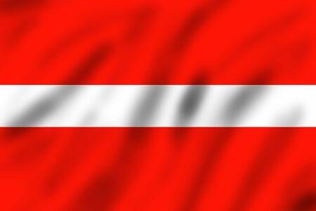 latvia: Flag of Latvia, 3d illustration
