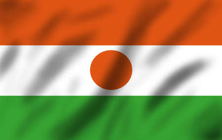 niger: Flag of Niger, 3d illustration