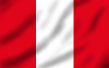Flag of Peru waving, 3d illustration