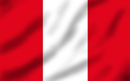 Flag of Peru waving, 3d illustration