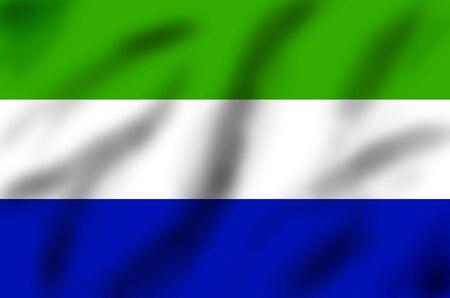 sierra: Flag of Sierra Leone, 3d illustration