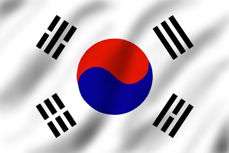 Flag of South Korea, illustration illustration