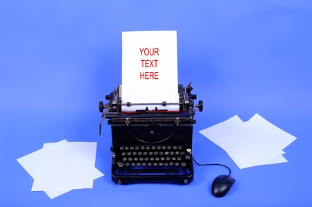 Old retro typewriter with