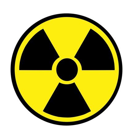 Radiation sign isolated over white Stock Photo - 9092259