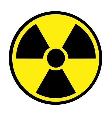 plutonium: Radiation sign isolated over white