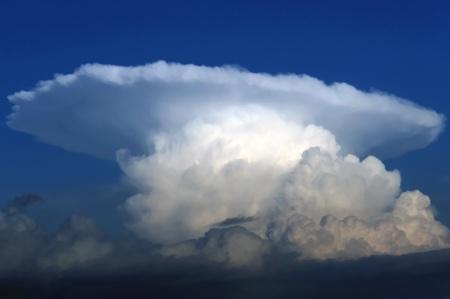 towering: Towering cumulonimbus thunderstorm cloud